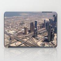 wiz khalifa iPad Cases featuring Dubai Burj Khalifa view - Ellie Wen by Artlala for MSF Doctors Without Borders