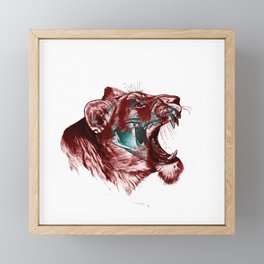 Lion 3D Framed Mini Art Print