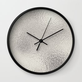 Simply Metallic in Silver Wall Clock