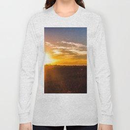 October Sunset on a Saskatchewan Farm Long Sleeve T-shirt