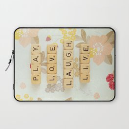 Play Love Laugh Live Laptop Sleeve