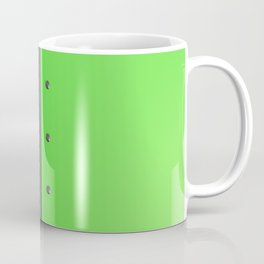 Colored plate with rivets and circular metal grille Coffee Mug