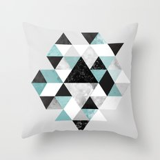 Graphic 202 Turquoise Throw Pillow