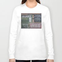 coca cola Long Sleeve T-shirts featuring Coca-Cola & Borax by Andrea Jean Clausen - andreajeanco