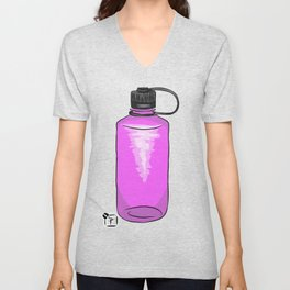 Purple Water Bottle Unisex V-Neck