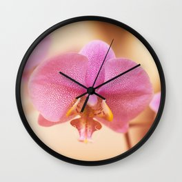 Orchidaceae Close-up Wall Clock