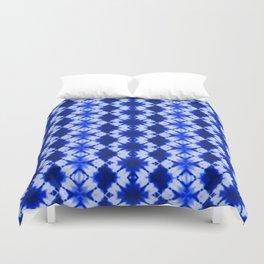 indigo shibori print Duvet Cover