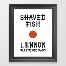 Shaved fish Framed Art Print