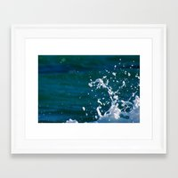 salt water Framed Art Prints featuring Salt Water by Diana Chan