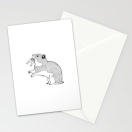 Mother Hamster Carrying Her Baby Stationery Cards