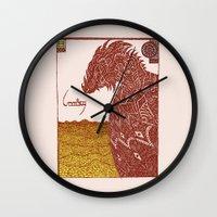 smaug Wall Clocks featuring Smaug and His Treasure by Hinterlund