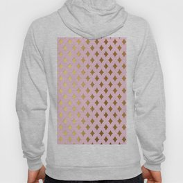 Queenlike - pink and gold elegant quatrefoil ornament pattern Hoody