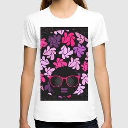 Afro Diva Pink Purple T-shirt