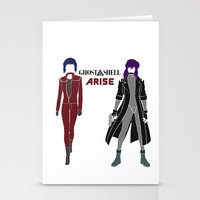 ghost in the shell Stationery Cards featuring Ghost in the Shell Arise by Krbshadow