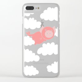 When pigs fly flying Clear iPhone Case
