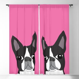 Boston Terrier Lilly Blackout Curtain