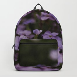 Tiny purple flowers Backpack