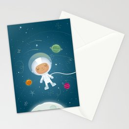 Little Astronaut Stationery Cards