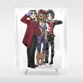 Johnny's looking at you Shower Curtain