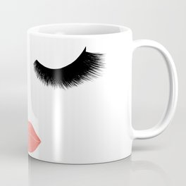 eyelashes with lips Coffee Mug