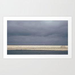 Dark Icelandic Road Art Print
