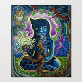 Jaguar Shaman Woman Canvas Print