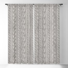 Cable Knit Blackout Curtain