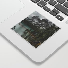 Landscape Maligne Lake Island Sticker