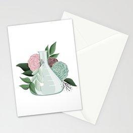 Floral Erlenmeyer Flask Stationery Cards