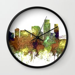 Corpus Christie, Texas Skyline SG - Safari Buff Wall Clock