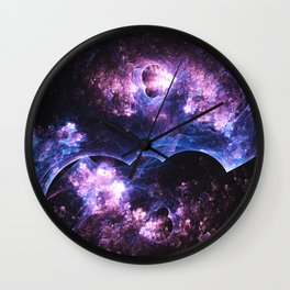 Grunged Space Wall Clock