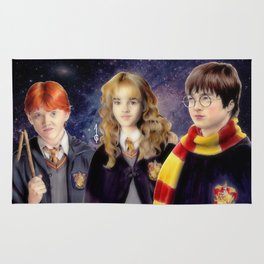 Harry, Hermione and Ron (fanart) Rug