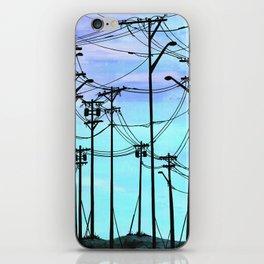 Industrial poles blue iPhone Skin