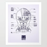 blueprint Art Prints featuring Blueprint by CromMorc