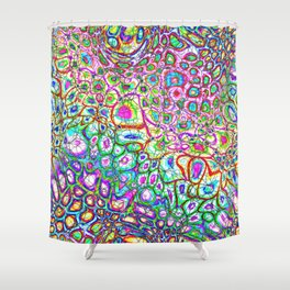 Colorful Synaptic Channels Shower Curtain