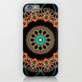 symmetry on black -10- iPhone Case