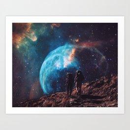 Hiking the universe Art Print