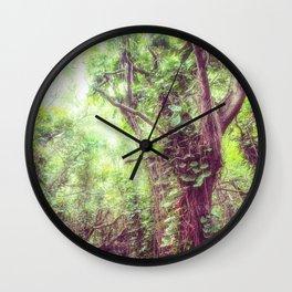 Dreamy Jungle Canopy Wall Clock