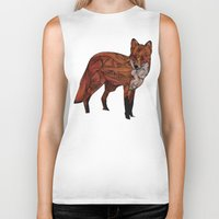 micklyn Biker Tanks featuring Red Fox by Ben Geiger