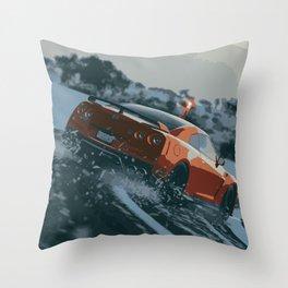 GTR Drift Throw Pillow