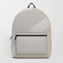Light Beige White Gray Minimal Stripe Design 2021 Color of the Year Uptown Ecru & Swedish Grey Backpack