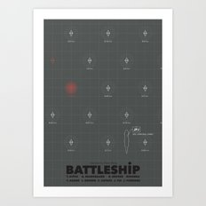 Battleship (2012) - minimal poster Art Print