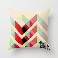 joy division Throw Pillows featuring Ian Curtis from Joy division by ░░░░░░░░░░░░