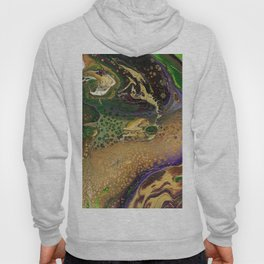 Fluid Gold XII - Abstract, textured, fluid, acrylic painting Hoody