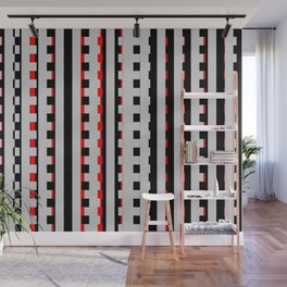 Rectangles Design red black Wall Mural
