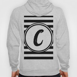 C Striped Monogram Letter Hoody