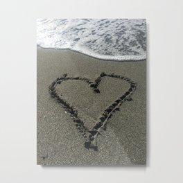 Sand Heart Metal Print