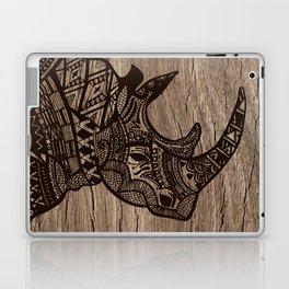 Wood Rhino Black Laptop & iPad Skin
