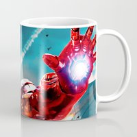 robert downey jr Mugs featuring R. DOWNEY JR. ** by Hands in the Sky
