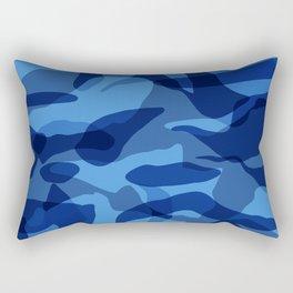 Blue Camouflage Military  Rectangular Pillow